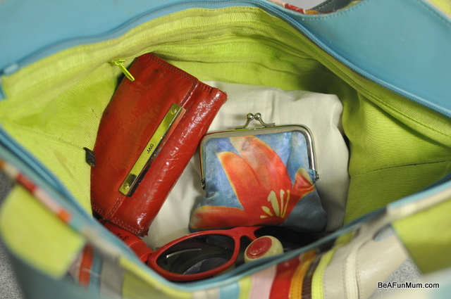 organising handbag -- after