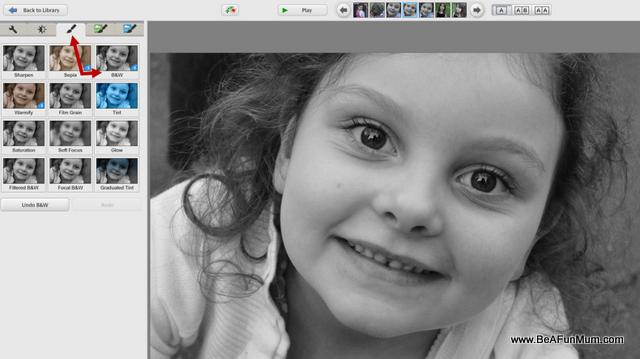 black and white editing step one