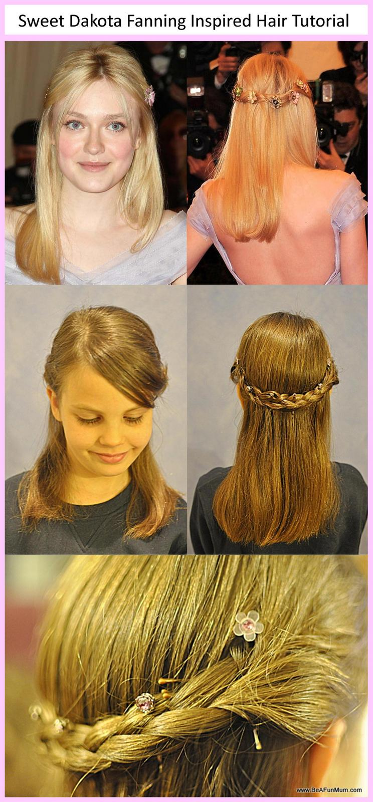 dakota fanning inspired hair tutorial from met ball 2012