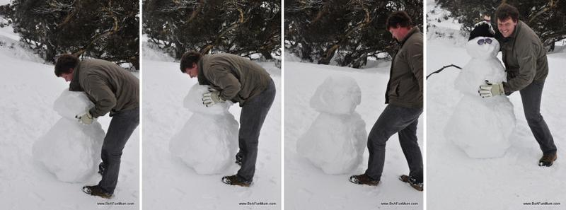 How to make a snowman matt