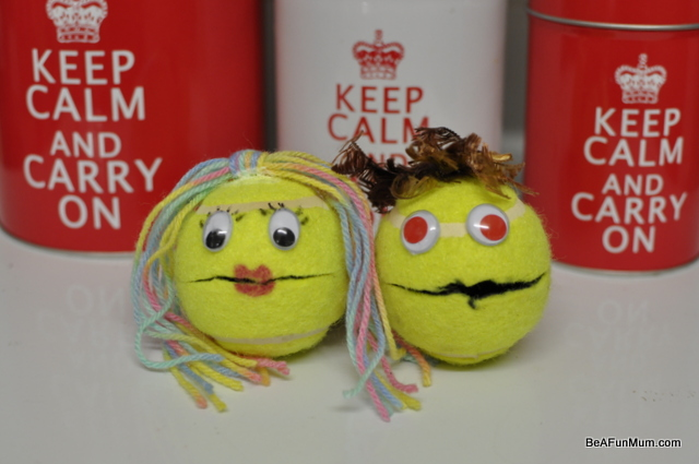 tennis ball puppets fun craft