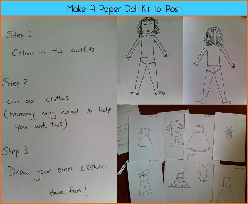 make a paper doll kit