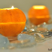 how to make an orange candle