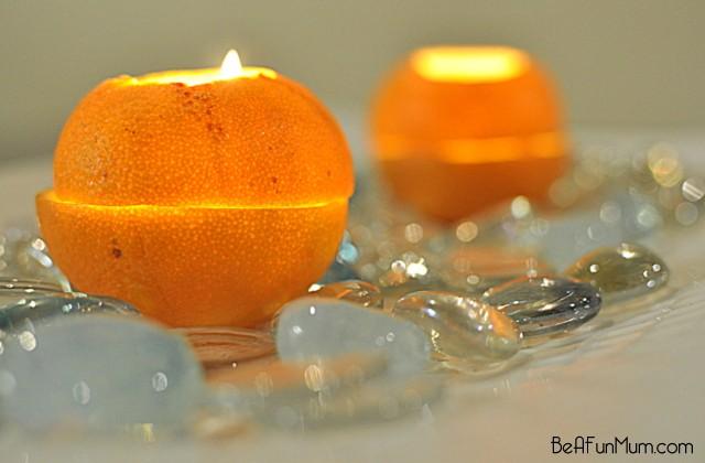 Orange Lantern Candle