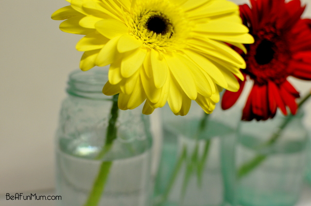 how to tint a jar blue -- color glass