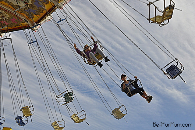 swing ride at the ekka