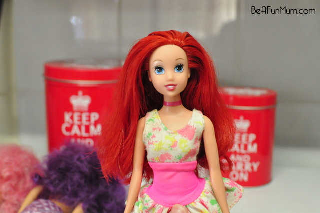 how to untangle barbie hair -- ariel