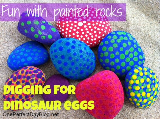 Painted rocks dinosaur game