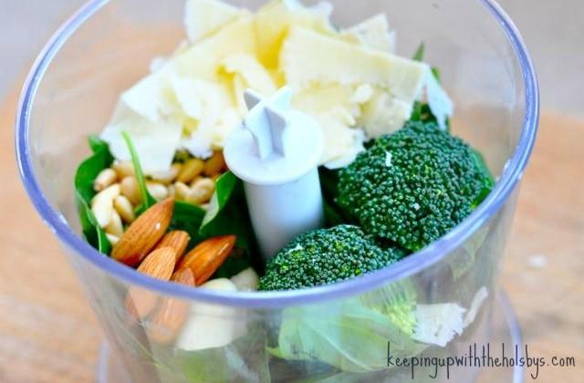 green vegetable and basil pesto recipe
