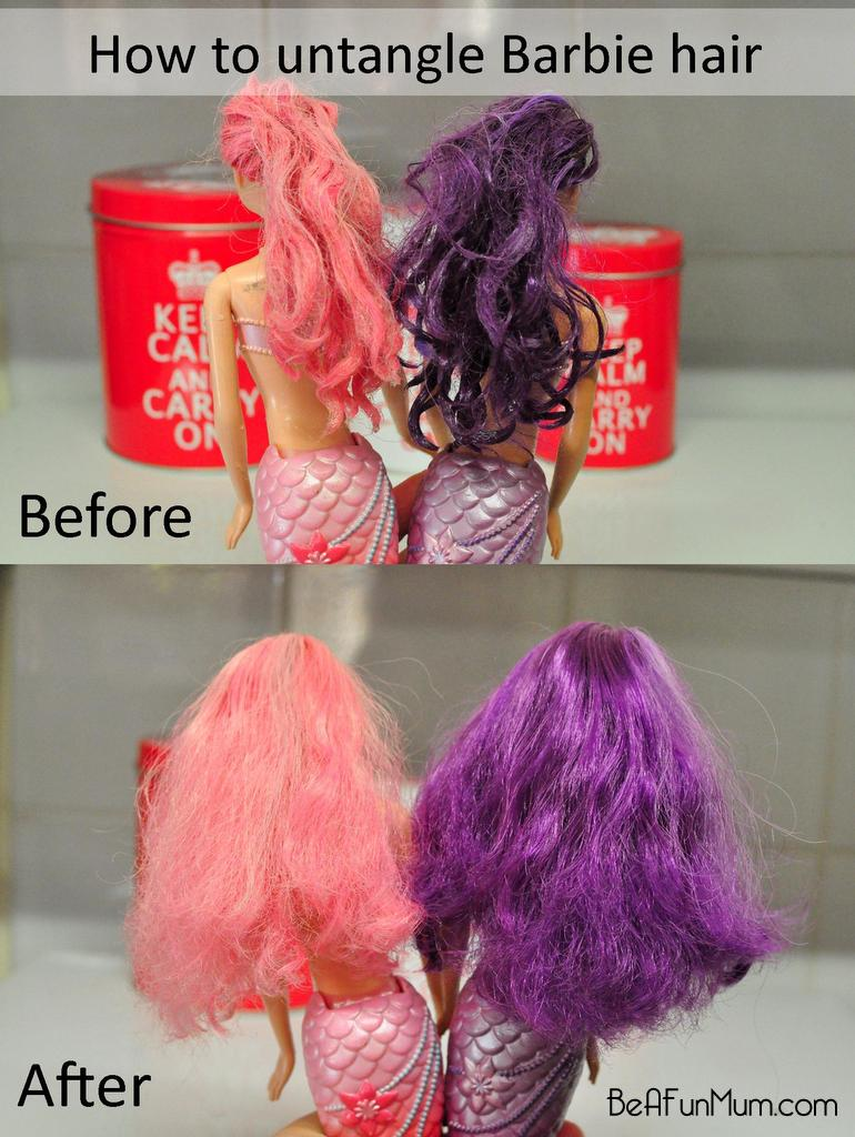 how to untangle barbie hair