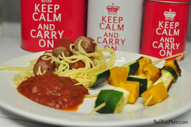 Zucchini, Haloumi & Pumpkin Kebabs recipe