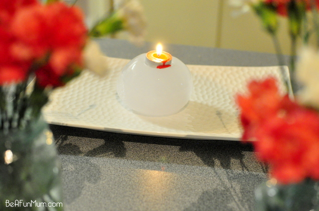 ice candle holder -- ice sculpture