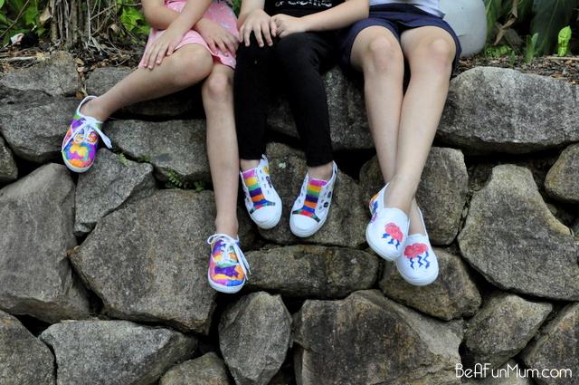 sharpie shoe design -- kids