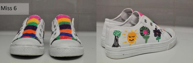 kids sharpie shoe design