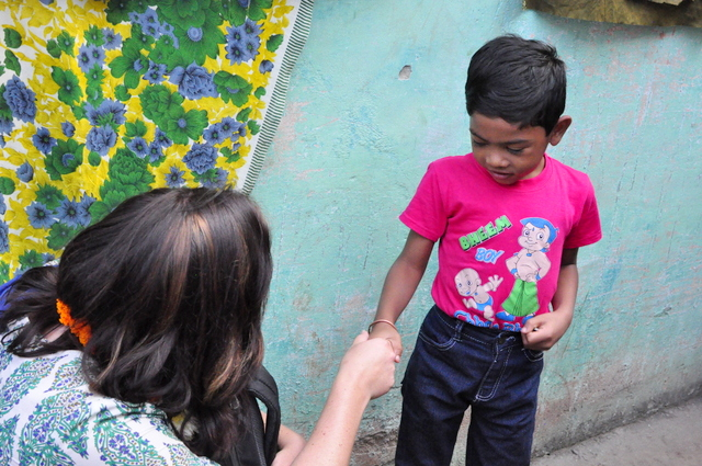 meeting my sponsor child in India