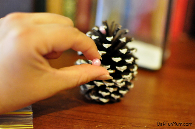 Pine cone Christmas tree in a jar