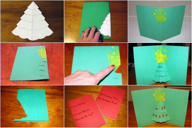 Homemade Christmas Cards -- Pop out Christmas Tree