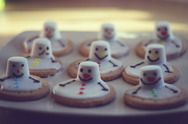 christmas food -- melted snowman biscuits - beafunmum.com