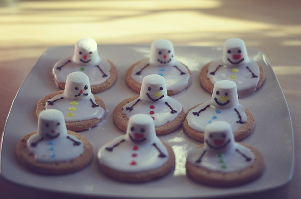christmas food -- melted snowman biscuits - on beafunmum.com