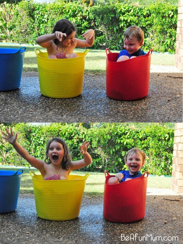 water bucket fun