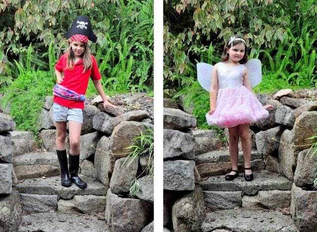 dress ups -- fairy and pirate