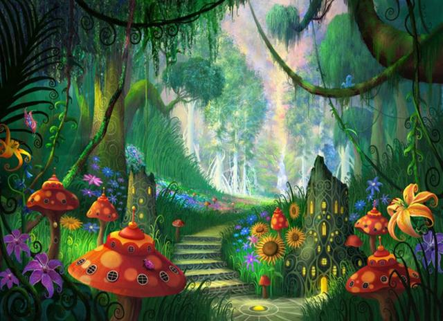magical fairy background