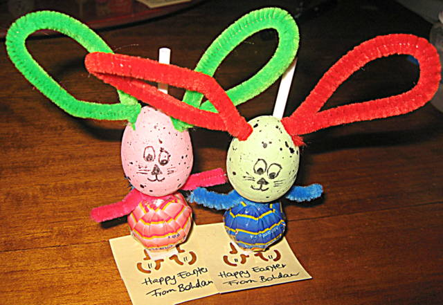 easter craft -- lollipop bunny