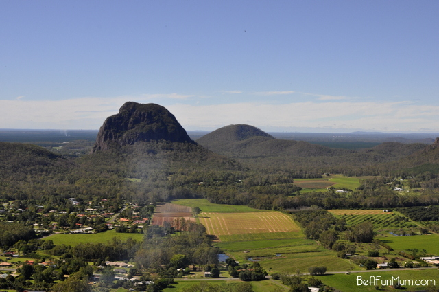 view from top of Mt Ngungun  -- glass house mountains