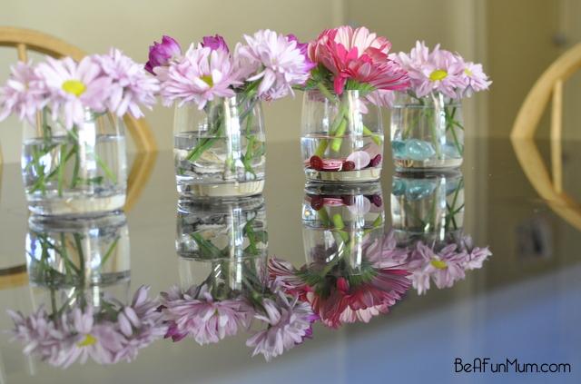 flower decoration in vases