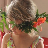 garden head wreath
