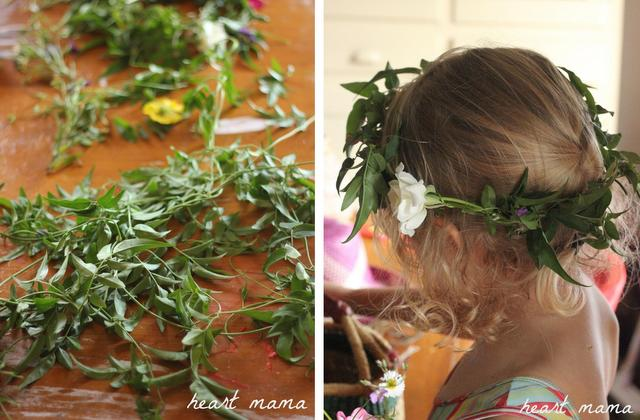 garden head wreath -- kids