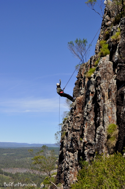 abseiling down mt ngungun -- glass house mountains