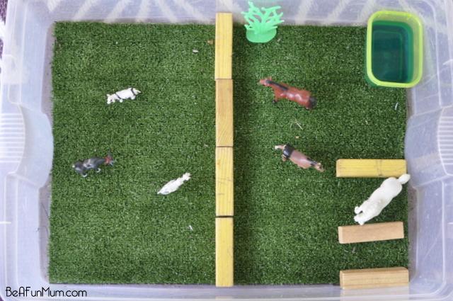 farm imaginative play scene