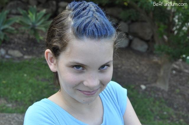 Blue hair...coloured hair -- braid