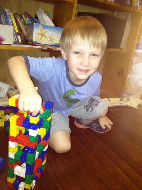 fun on holidays with boys -- blocks