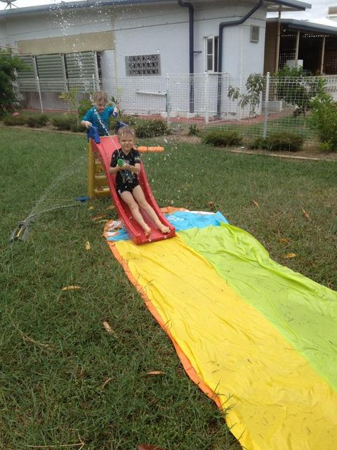 slip and slide -- fun activities for boys