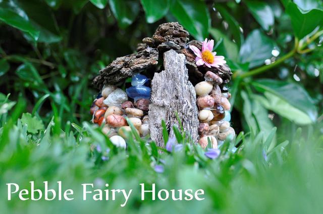pebble fairy house