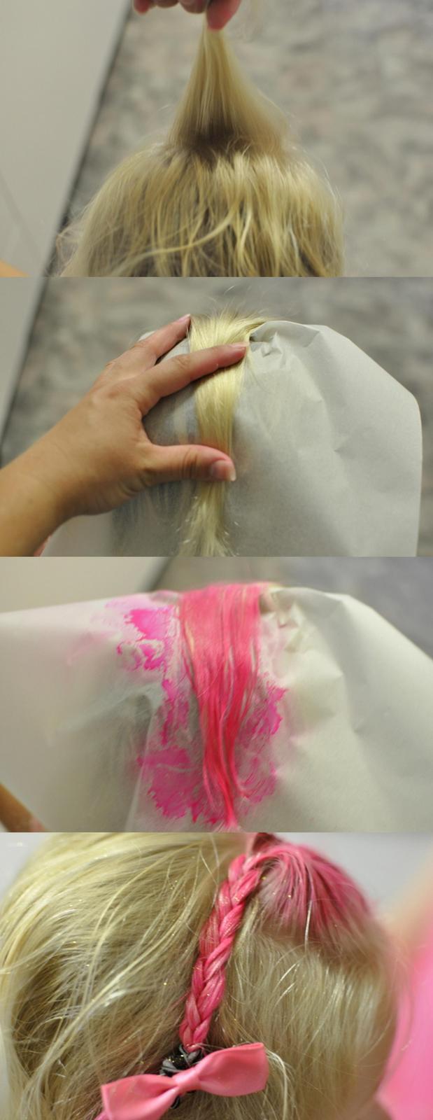 Pink Hair plait
