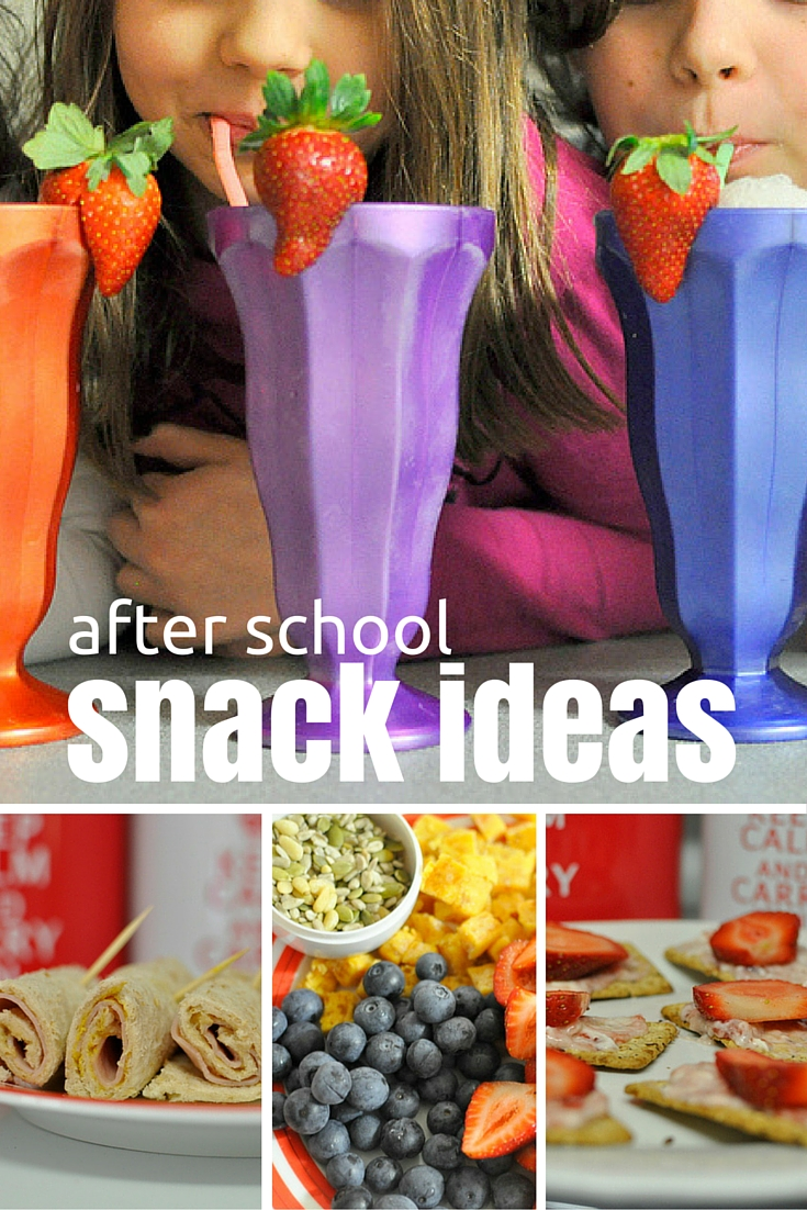 A huge list of after school snack ideas