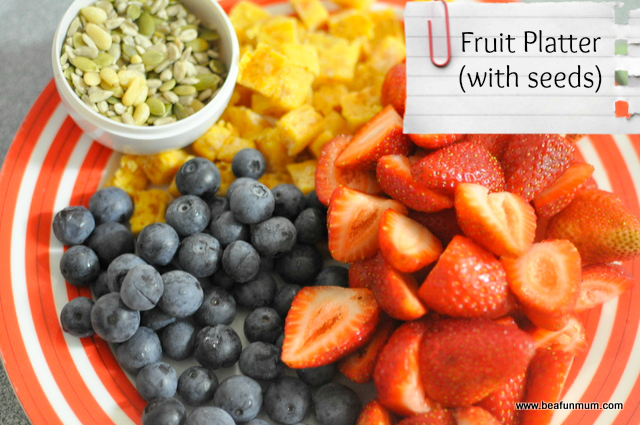 snack ideas for kids -- fruit platter