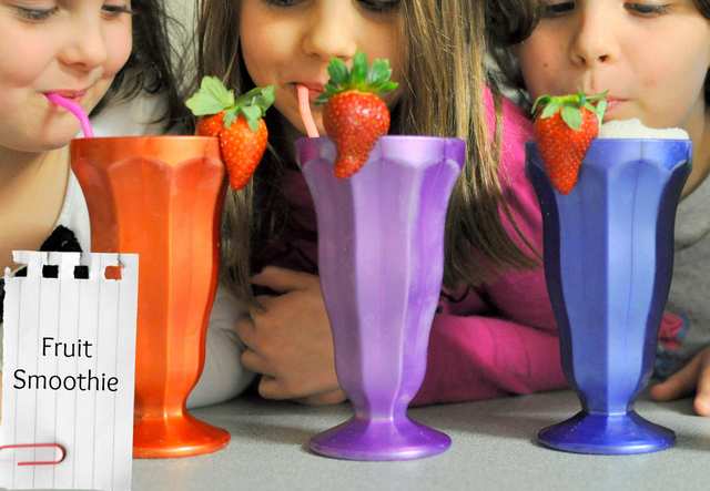 snack ideas for kids -- fruit smoothie