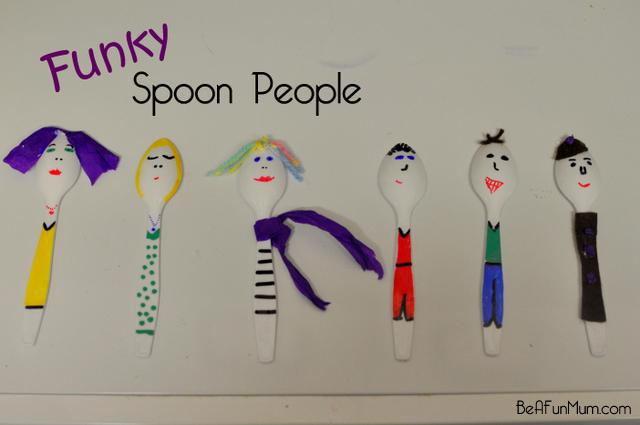 plastic spoon people designs