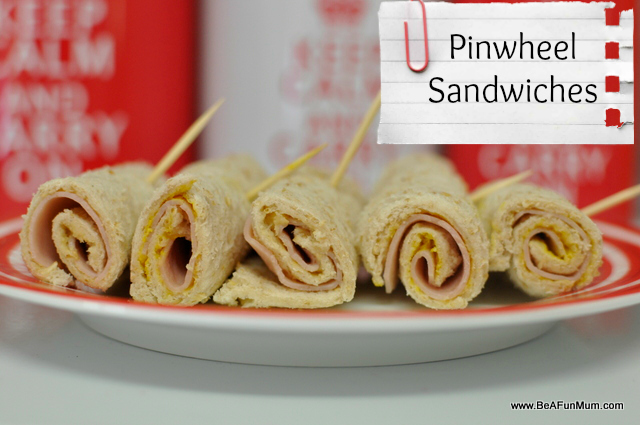 snack ideas for kids -- pinwheel sandwiches