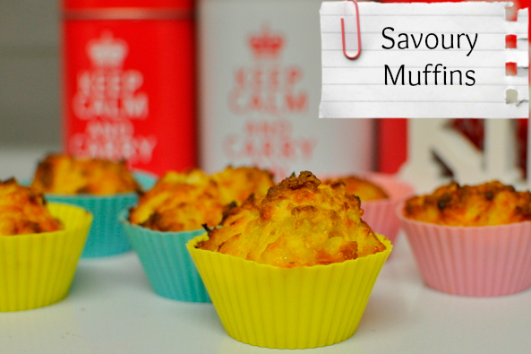 savory muffins -- snack idea for kids