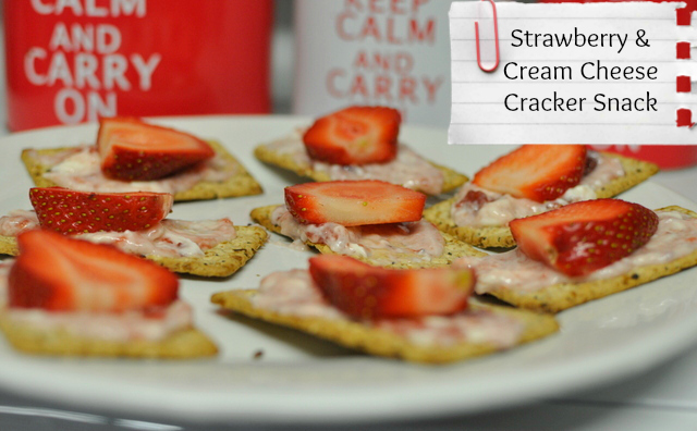 snacks for kids -- strawberry and cream cheese