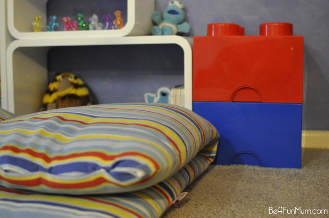organising toys -- floor cushion