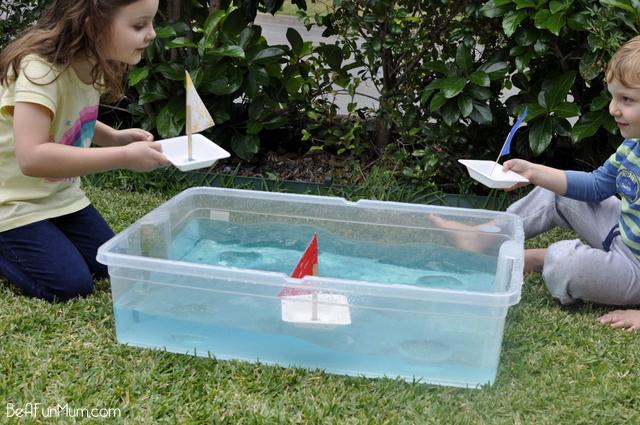 plastic bowl boat