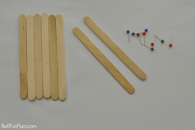 paddle pop door / popsicle stick doors