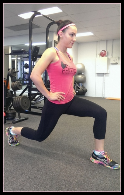 15 minute circuit -- lunges