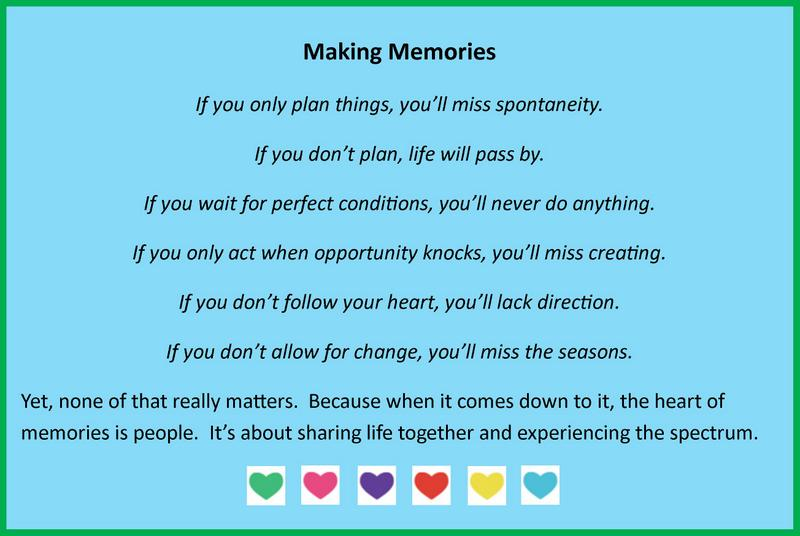 making memories quote